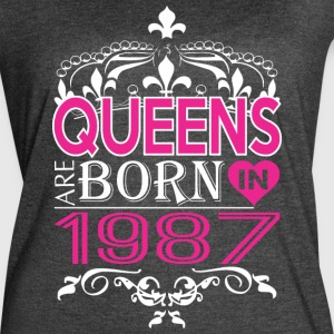 Queens Are Born In 1987 Happy Mothers Day - Women's Vintage Sport T-Shirt