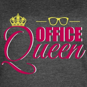 Cute Office Queen T-Shirt for Secretary - Women's Vintage Sport T-Shirt