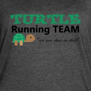 Turtle Running Team we are slow as shell Tee Shirt - Women's Vintage Sport T-Shirt