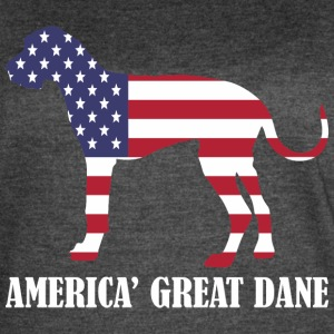 American Great Dane Dog Flag Memorial Day USA - Women's Vintage Sport T-Shirt