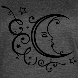Filigree moon with stars. - Women's Vintage Sport T-Shirt