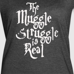 The Muggle Struggle Is Real - Women's Vintage Sport T-Shirt