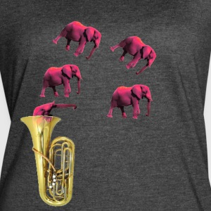 IMG 2652 Tuba Pink Elephants on Parade - Women's Vintage Sport T-Shirt