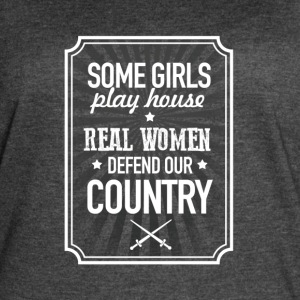 Real Women Defend Our Country - Women's Vintage Sport T-Shirt