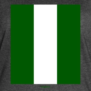 Nigerian Flag Long - Women's Vintage Sport T-Shirt