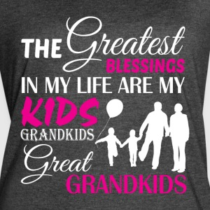 My Life Are My Kids Grandkids T Shirt - Women's Vintage Sport T-Shirt