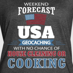 Weekend Forecast USA Geocaching T Shirt - Women's Vintage Sport T-Shirt