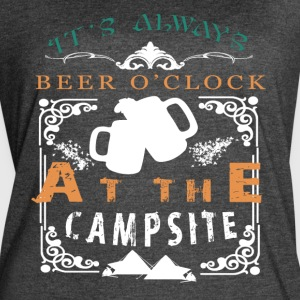 It's Always Beer O' Clock At The Campsite T Shirt - Women's Vintage Sport T-Shirt