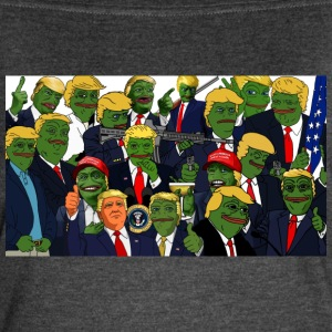 Trump Pepe Collage - Women's Vintage Sport T-Shirt