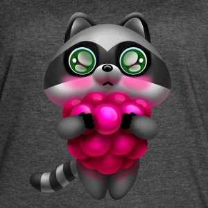 Raccoon with raspberries - Women's Vintage Sport T-Shirt