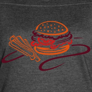 Big burger with tomato and french fries - Women's Vintage Sport T-Shirt