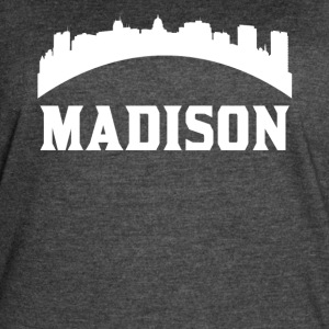 Vintage Style Skyline Of Madison WI - Women's Vintage Sport T-Shirt