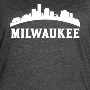 Vintage Style Skyline Of Milwaukee WI - Women's Vintage Sport T-Shirt