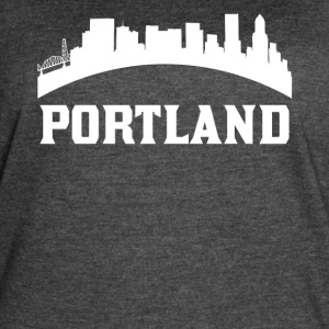 Vintage Style Skyline Of Portland OR - Women's Vintage Sport T-Shirt