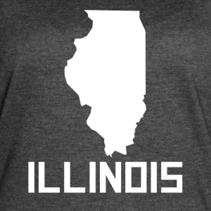 Illinois State Silhouette - Women's Vintage Sport T-Shirt