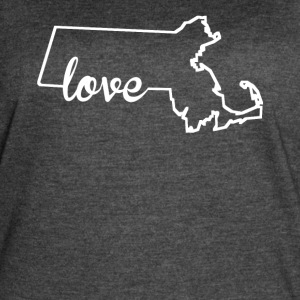 Massachusetts Love State Outline - Women's Vintage Sport T-Shirt