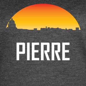 Pierre South Dakota Sunset Skyline - Women's Vintage Sport T-Shirt