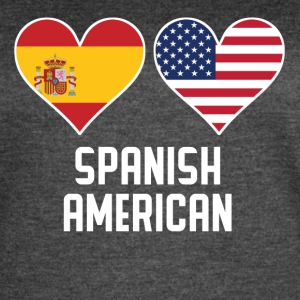 Spanish American Heart Flags - Women's Vintage Sport T-Shirt
