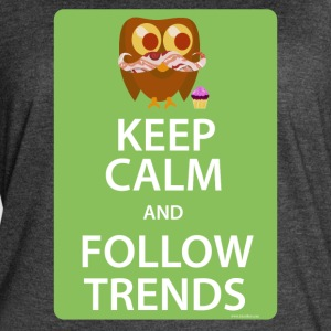 Keep Calm Trendy Bacon Owl - Women's Vintage Sport T-Shirt