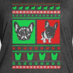 Boston Terrier Ugly Christmas Sweater - Women's Vintage Sport T-Shirt