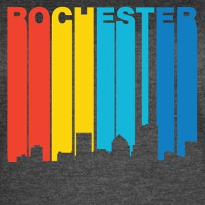 Retro 1970's Style Rochester New York Skyline - Women's Vintage Sport T-Shirt