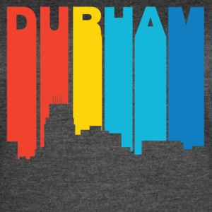 Retro 1970's Style Durham North Carolina Skyline - Women's Vintage Sport T-Shirt