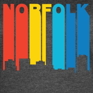 Retro 1970's Style Norfolk Virginia Skyline - Women's Vintage Sport T-Shirt