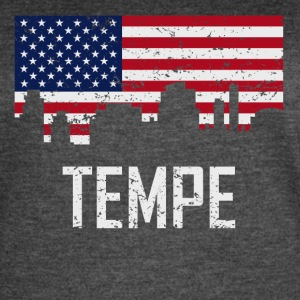 Tempe Arizona Skyline American Flag Distressed - Women's Vintage Sport T-Shirt