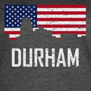 Durham North Carolina Skyline American Flag - Women's Vintage Sport T-Shirt