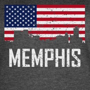 Memphis Tennessee Skyline American Flag - Women's Vintage Sport T-Shirt