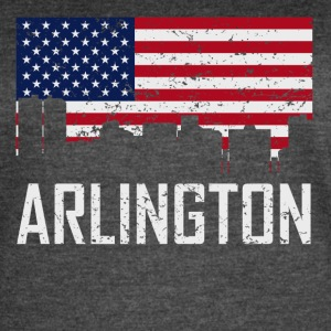 Arlington Texas Skyline American Flag Distressed - Women's Vintage Sport T-Shirt