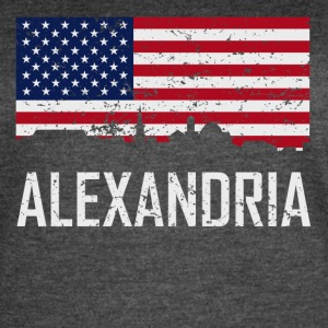 Alexandria Virginia Skyline American Flag - Women's Vintage Sport T-Shirt