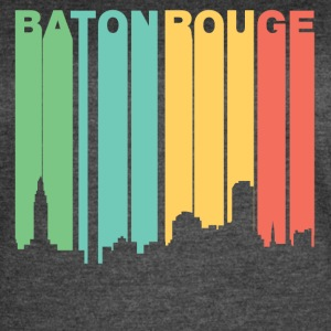 Retro 1970's Style Baton Rouge Louisiana Skyline - Women's Vintage Sport T-Shirt