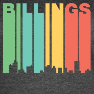 Retro 1970's Style Billings Montana Skyline - Women's Vintage Sport T-Shirt