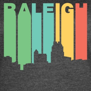 Retro 1970's Style Raleigh North Carolina Skyline - Women's Vintage Sport T-Shirt