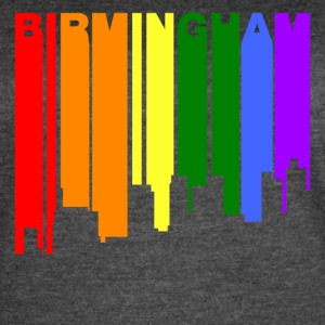 Birmingham Alabama Gay Pride Rainbow Skyline - Women's Vintage Sport T-Shirt