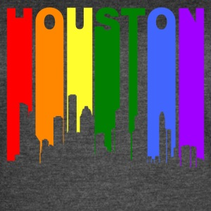 Houston Texas Gay Pride Rainbow Skyline - Women's Vintage Sport T-Shirt