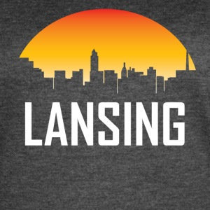 Lansing Michigan Sunset Skyline - Women's Vintage Sport T-Shirt