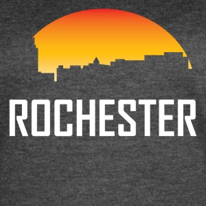 Rochester Minnesota Sunset Skyline - Women's Vintage Sport T-Shirt