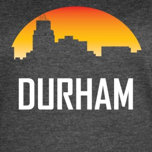 Durham North Carolina Sunset Skyline - Women's Vintage Sport T-Shirt