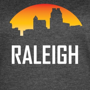 Raleigh North Carolina Sunset Skyline - Women's Vintage Sport T-Shirt