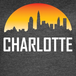 Charlotte North Carolina Sunset Skyline - Women's Vintage Sport T-Shirt