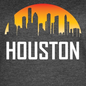 Houston Texas Sunset Skyline - Women's Vintage Sport T-Shirt