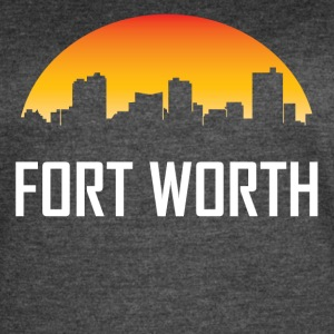 Fort Worth Texas Sunset Skyline - Women's Vintage Sport T-Shirt