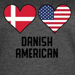 Danish American Heart Flags - Women's Vintage Sport T-Shirt