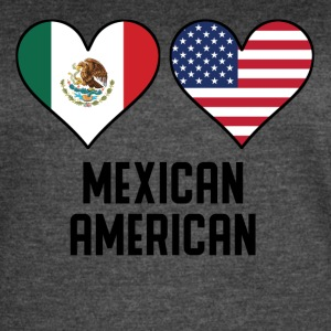 Mexican American Heart Flags - Women's Vintage Sport T-Shirt