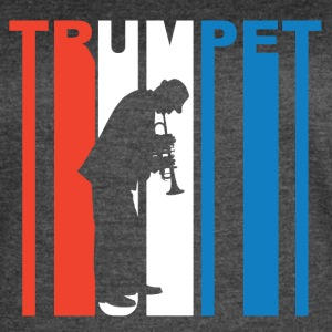 Red White And Blue Trumpet - Women's Vintage Sport T-Shirt