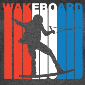Red White And Blue Wakeboard Wakeboarding - Women's Vintage Sport T-Shirt