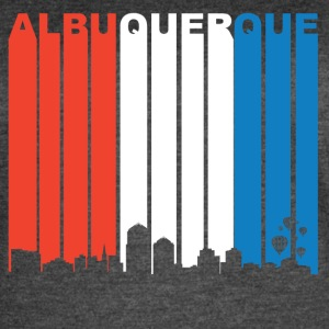 Red White And Blue Albuquerque New Mexico Skyline - Women's Vintage Sport T-Shirt
