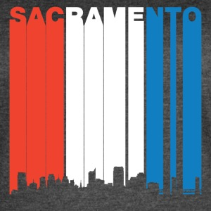 Red White And Blue Sacramento California Skyline - Women's Vintage Sport T-Shirt